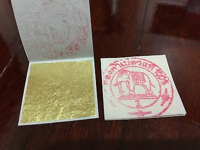 24K GOLD LEAF SHEET BOOK OF 50, FOOD GRADE EDIBLE,DECORATING,ART 30mmx30mm