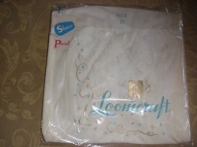 Vintage Loomcraft White Lacy Nylon Full Whole Slip in Original Package 32 S