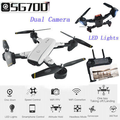 SG700 Quadcopter Drone 2.0MP Wide Angle Dual Camera Wifi FPV Foldable 6-Axis 4CH