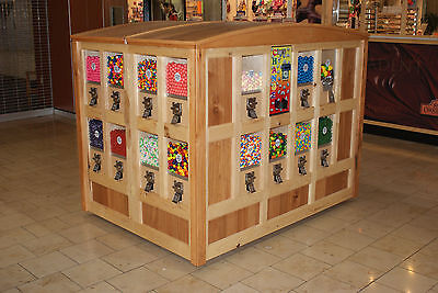 CUSTOM MADE 'Gumball / Candy' Hickory Mall Vending Kiosk
