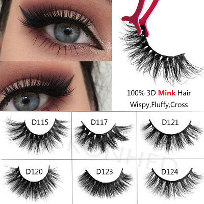 SKONHED Mink Naturel Épais faux Faux Cils Multicouche Cross Lashes Extension