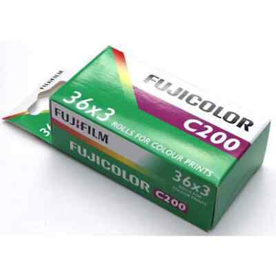 Fujifilm Fujicolor C200 35mm Color Print Film 135-36 Exposure Triple Pack