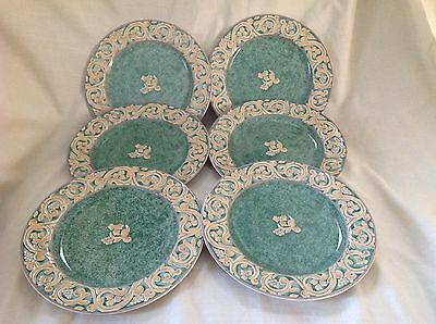 """6 X British Home Stores/bhs Valencia 8"""" Plates Excellent Condition First Quality"""