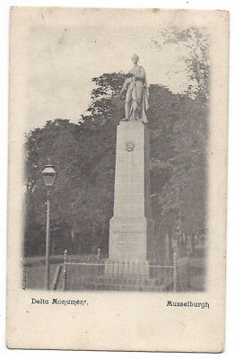 MUSSELBURGH Delta Monument, Old Postcard Postmarked Dalkeith 1904