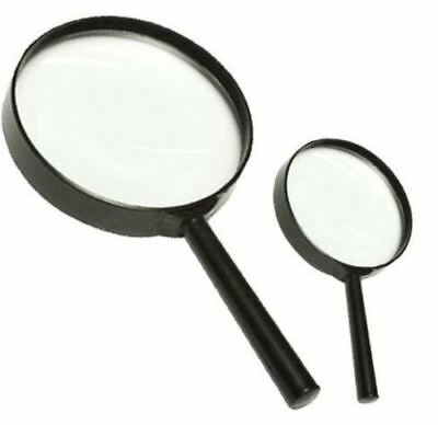 2pc Handheld Magnifying Glass Set Optical Reading Aid Magnifier Lens Tool
