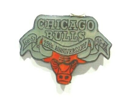 Pins Basket Ball Chicago Bulls Taureau 25Th Anniversary