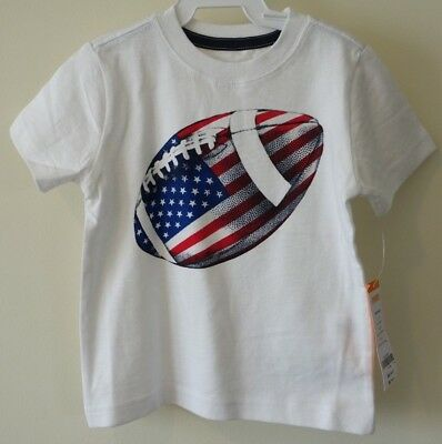 New With Tags Gymboree July 4th Football Shirt Boy's Size 2T