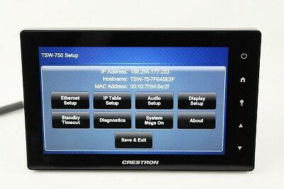 "✅ Crestron TSW-750-B-S 7"" Touch Panel Touch Screen Control Unit Black"