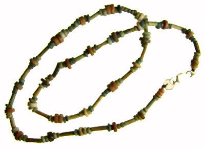 Egyptian Mummy Bead Necklace, RED & GREEN, 15.5 inches,c 600-300 BC or Earlier