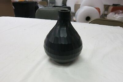 Hand Blown Vivace Cut Deep Red Glass Vase 6 3/4""