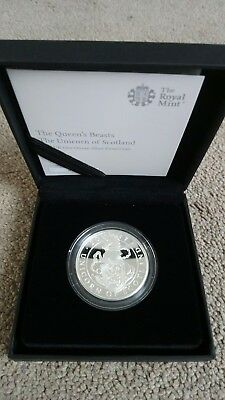 Royal Mint 2017 Queens Beasts Unicorn Of Scotland 1 Ounce Silver Proof Coin