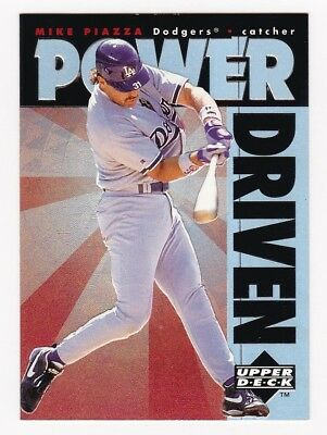 MIKE PIAZZA 1996 Upper Deck Power Driven # PD12 Dodgers HOF NM - MT