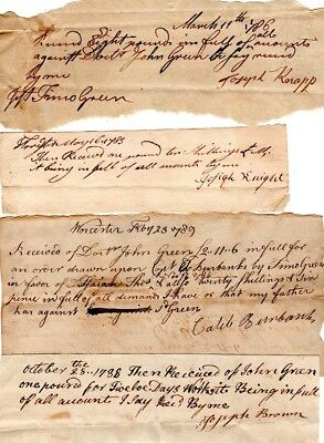 1780s, Goods and services, Dr. John Green, Worcester, Massachusetts, group