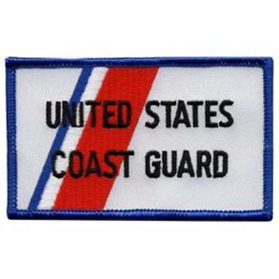U.S. Coast Guard Rectangular Patch for jump suit or jacket