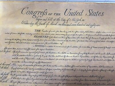 Vintage Reproduction The BILL OF RIGHTS Aged Parchment Paper 23252