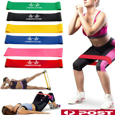 1-6Pcs Resistance Loop Bands Mini Band Exercise Crossfit Strength Fitness GYM AU