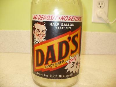 Vintage DAD'S Papa Size ½ Gallon Bottle with Nice Label.