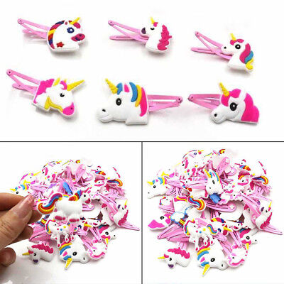 Cartoon Unicorn Hair Clips Hairpins Hair Jewelry Accessories Kids Headwear Gift