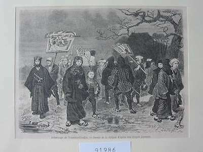 91986-Asien-Asia-Japan-Nippon-Nihon-Yousima-Tendjin-T Holzstich-Wood engraving