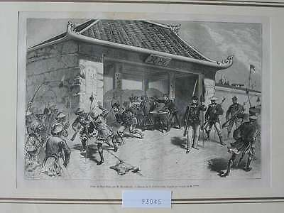 93045-Asien-Asia-China-Ninh-Binh-T Holzstich-Wood engraving