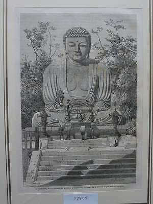 92909-Asien-Asia-Japan-Nippon-Nihon-Kamakoura Bouddha-T Holzstich-Wood engraving