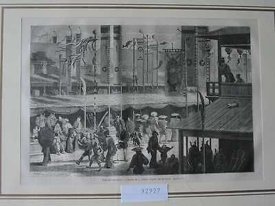 92927-Asien-Asia-Japan-Nippon-Nihon-Bannieres Fest-T Holzstich-Wood engraving