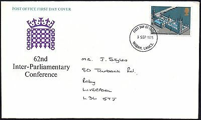 FDC - G.B. 1975 62nd Inter-Parliamentary Conference - First Day Cover
