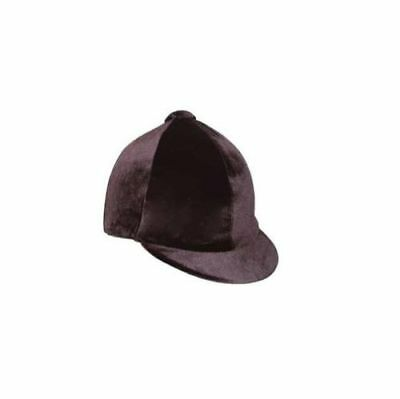HY VELVET / VELVETEEN SKULL RIDING HAT CAP COVER / HAT SILK  black OR navy
