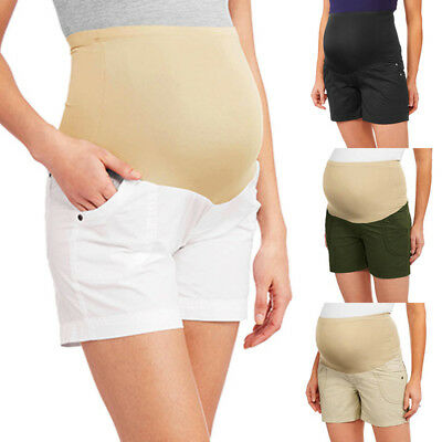 Summer Maternitry Womens Shorts Overbump Pregnancy Highwaist Pants Plus Trousers