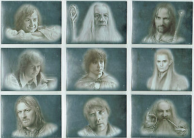 Lord Of The Rings Masterpieces Set di 9 Argento Lamine