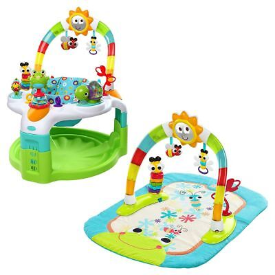 Bright Starts 2-In-1 Baby Bouncer Lights N Learn Activity Gym And Saucer