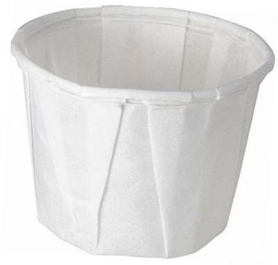 solo 0.5 oz treated paper souffle portion cups for measuring, medicine, samples,