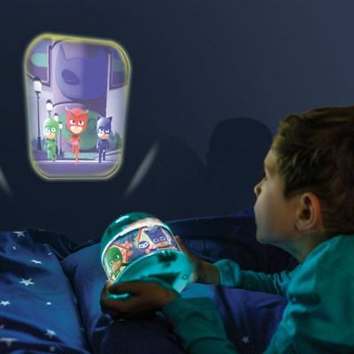 Official Pj Masks Led Night Light Projector With 2 Image Wheels Childrens