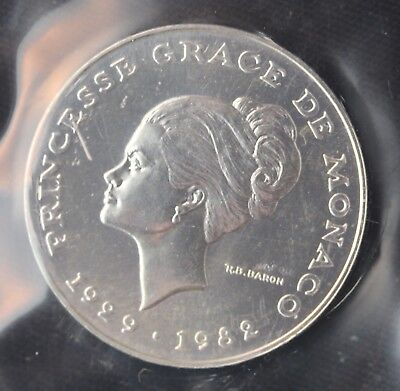 Monaco  10 Francs  Cupro Nickel Coin  1982  Princess Kelly Essai