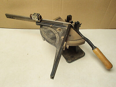 H.B. Rouse & Company antique printer's lead type bevel/miter cutter