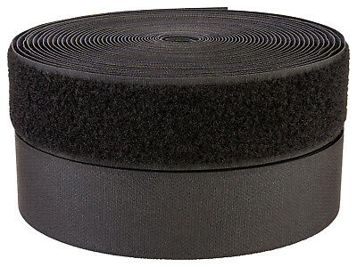 1 1/2 Inch Black Sew on Hook and Loop Tape | Closeout (50 Yards)