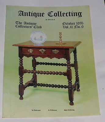 Antique Collecting October 1976 - The Macclesfield Chair/Nuremburg Plates