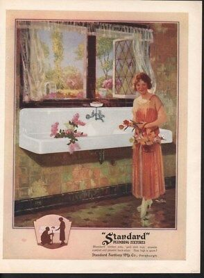 1926 Standard Plumbing Flower Sink Kitchen Pipe Garden -14869