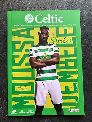 Celtic v Rangers 29th April 2018 Programme MINT Programme    ** TITLE DECIDER **