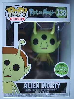 Funko Pop! Rick and Morty Alien Morty # 338 ECCC Vinyl New L@@K!