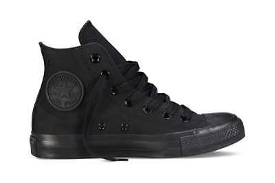 Converse Chuck Taylor All Star Hi (Black Mono, US Mens 4.5 / US Womens 6.5)