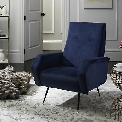 navy club chair dark blue leather safavieh midcentury modern retro aida velvet navy club chair safavieh midcentury modern