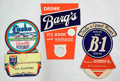 3 Unused Assorted Advertising Bottle Toppers  -  001
