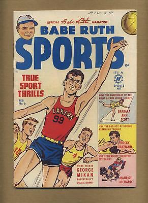 Babe Ruth Sports Comics #6 (Strict VG) baseball, Harvey; Golden Age (bl-0152)