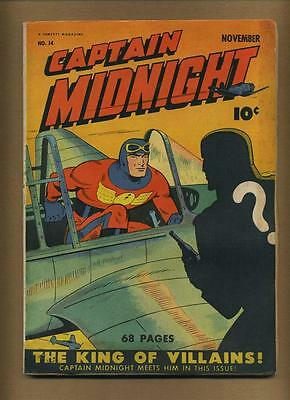 Captain Midnight 14 (G+/GVG; cover + few c.folds det., orig. staples misplaced)