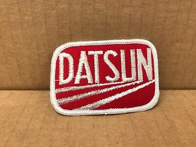 "Vintage Original 1970's Embroidered Datsun Jacket Patch 3"" X 2"""