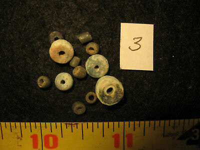 12 Egyptian Roman Beads, 2000 B.P. + or - Ancient Sahara Desert Artifacts, #3