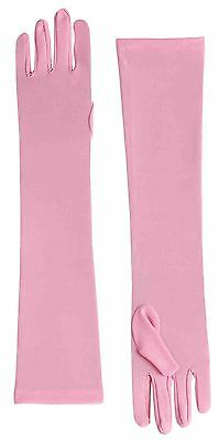 Pink Long Gloves Opera Length Adult Size