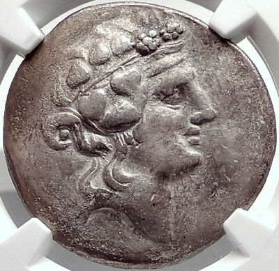 THASOS Thrace 148BC Dionysus Hercules Silver Greek Tetradrachm Coin NGC i68713