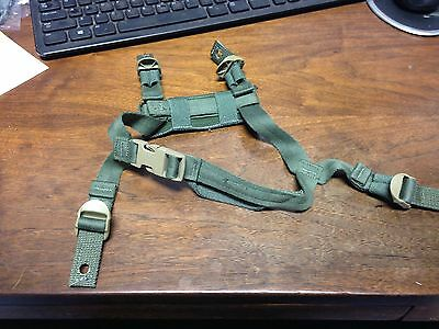 USGI HELMET CHIN STRAP ACH MICH Helmet 4-Point Retention . OD Green